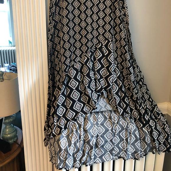 torrid Dresses & Skirts - Black Patterned High-Low wrap Dress